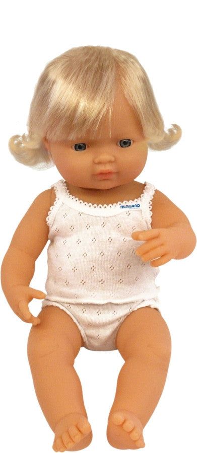 Anatomically Correct Baby Doll - Caucasian Girl - 38cms - Little Me Little You