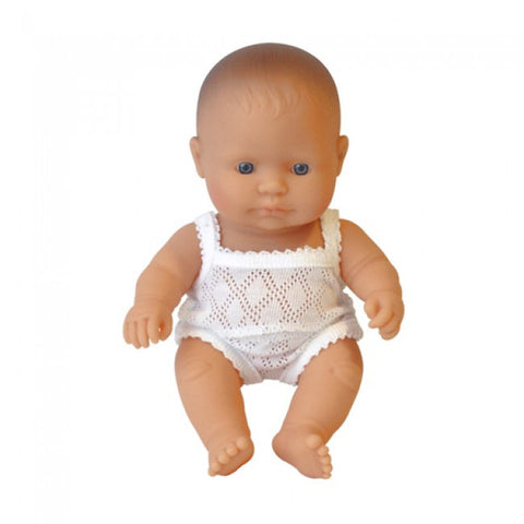 Anatomically Correct Baby Doll - Caucasian Boy - 21cms - Little Me Little You
