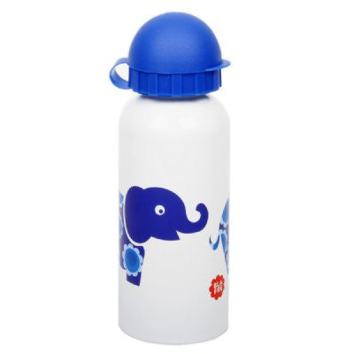 Blafre steel drink bottle - blue elephants - Little Me Little You