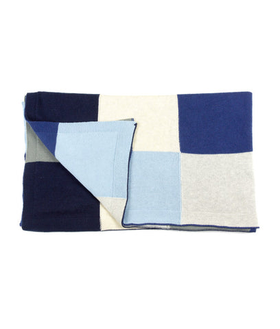 Patchwork Blanket - Blue Mist