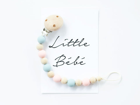 Classic Dummy Chain - Pastel Pink & Blue - Little Me Little You
