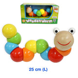Wooden Worm with 10 Segments