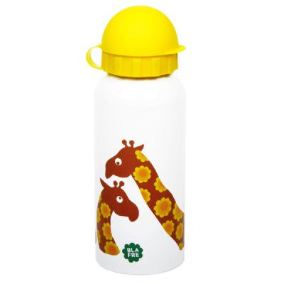blafre steel drink bottle - giraffe - Little Me Little You