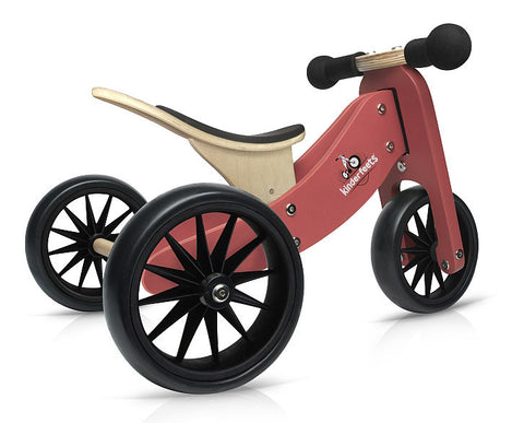 Kinderfeets Tiny Tot Trike - Terracotta Red (limited edition) - Little Me Little You