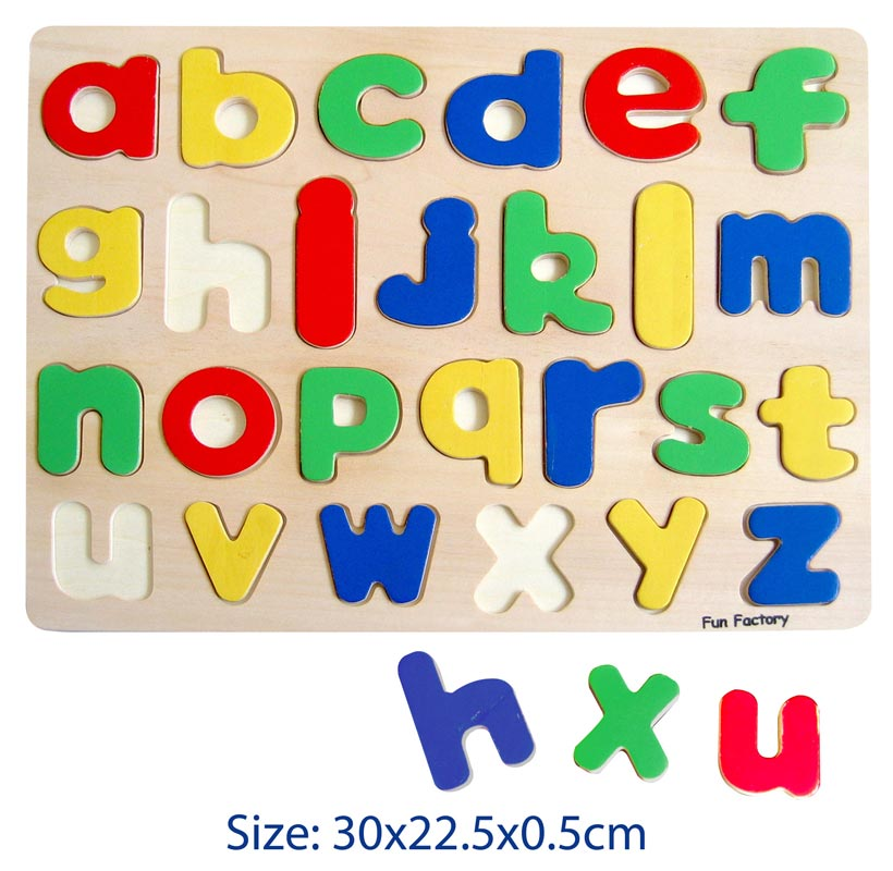 Raised Wooden Puzzle - Lower Case Letters