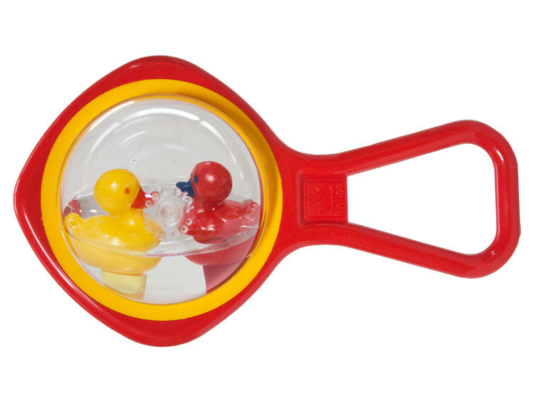 Ducks Waterball Rattle - Red Handle - Little Me Little You