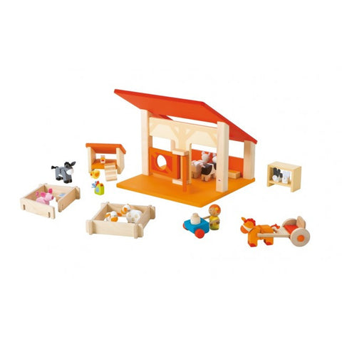 Wooden 28 piece Stable - Little Me Little You