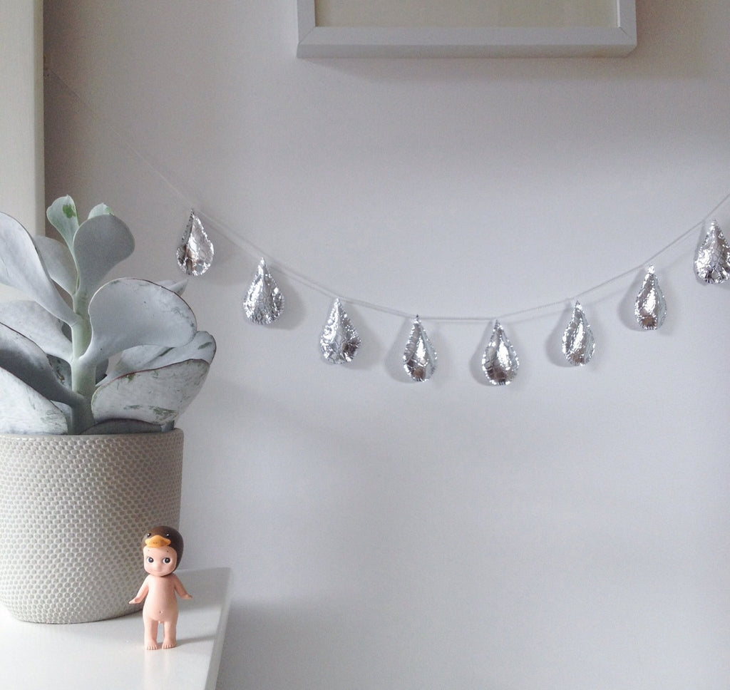Silver Raindrop Garland - Little Me Little You