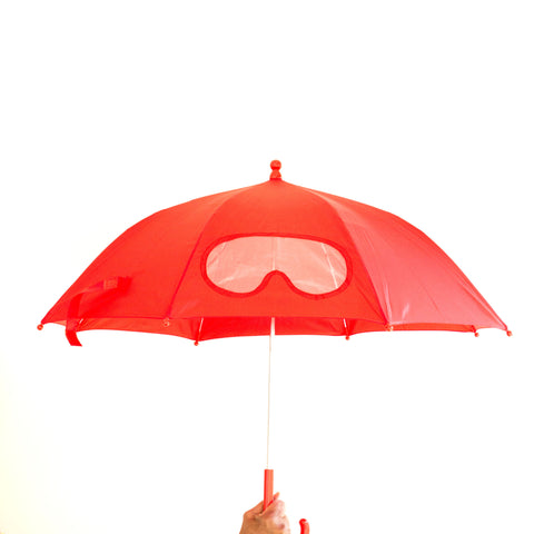 Superhero Mask Umbrella - Red