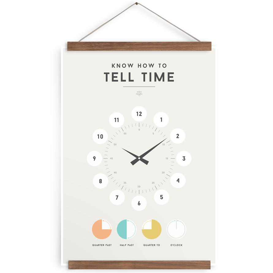 Tell Time poster - Little Me Little You