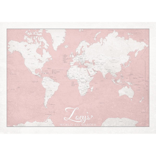 Personalised 'World to Wander' - Soft Peach