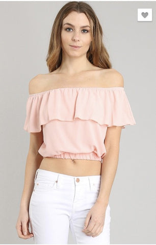 Adorable off the shoulder crop top