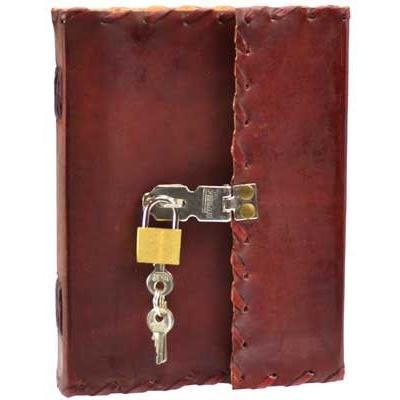 "1842 Poetry Leather Journal with Key, 5"" x 7"" - Earthly Alchemist"