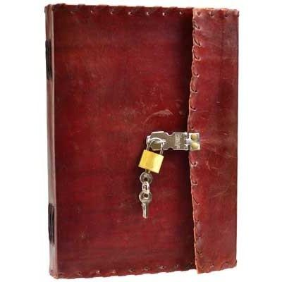 "1842 Poetry Leather Journal with Key, 7"" x 10"" - Earthly Alchemist"