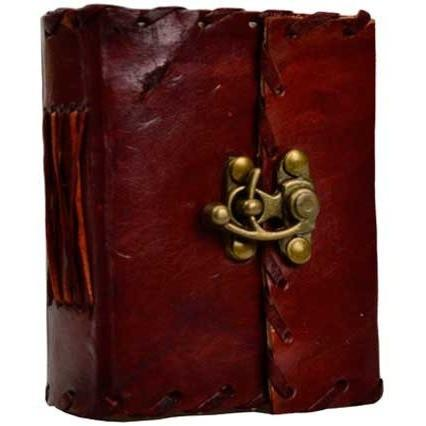 "1842 Poetry Leather Journal with Latch, 3"" x 4"" - Earthly Alchemist"