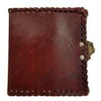 "1842 Poetry Leather Journal with Latch, 4"" x 5"" - Earthly Alchemist"