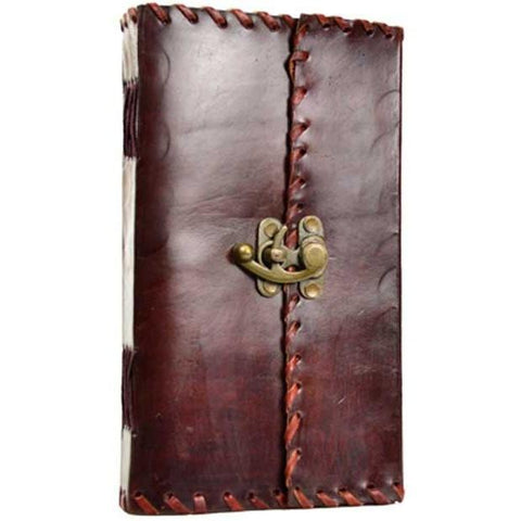 "1842 Poetry Leather Journal with Latch, 5 1/2"" x 9"" - Earthly Alchemist"