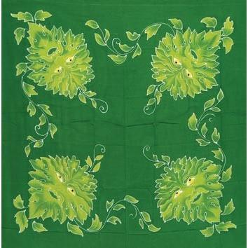 "Greenman Altar Cloth, 36"" x 36"" - Earthly Alchemist"