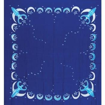 "Goddess Altar Cloth Blue,  36"" x 36"" - Earthly Alchemist"