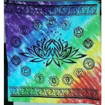 "Chakra Lotus Altar Cloth, 36"" x 36"" - Earthly Alchemist"