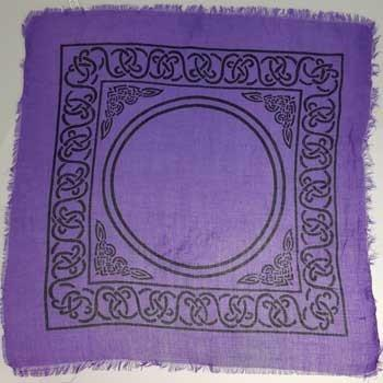 "Celtic Altar Cloth, 18"" x 18"" - Earthly Alchemist"