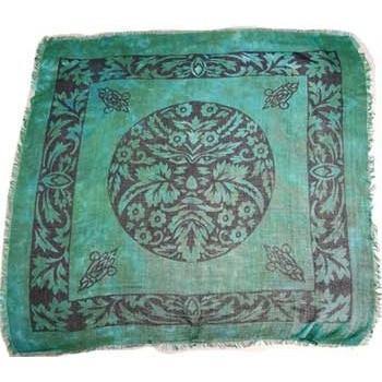 "Green Man Altar Cloth, 18"" x 18"" - Earthly Alchemist"