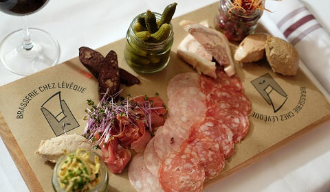 Charcuterie Platter -- Chez Lévêque makes all their charcuteries and fine meets in-house with premium ingredients!