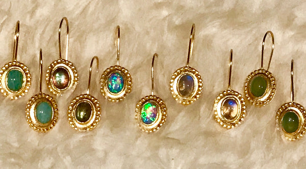Stephanie Beaded Drops with Semiprecious Stones