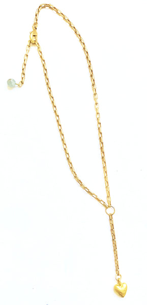 a Lizzie-Matte Gold Chain with Labradorite