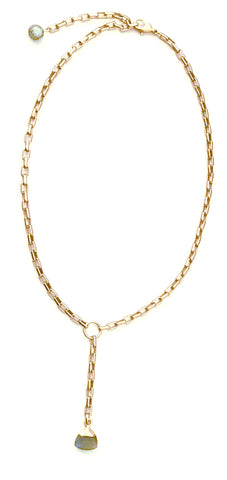 a Lizzie-Matte Gold Chain with Choice of Pendant
