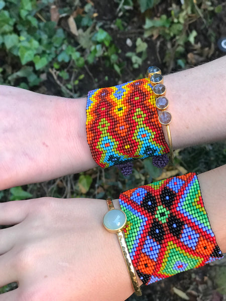 Huichol Beaded Wrap Bracelets