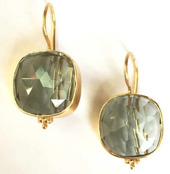 Christine Earrings - Pale blue quartz