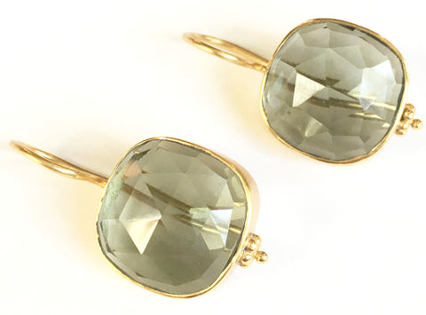 Christine Earrings - Green Amethyst