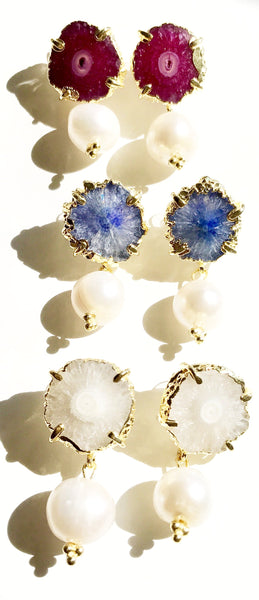 Michelle Druzy and Pearl Earrings