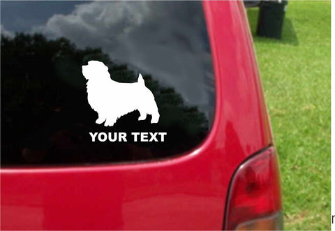 Norfolk Terrier Dog Sticker Decal with custom text 20 Colors To Choose From.