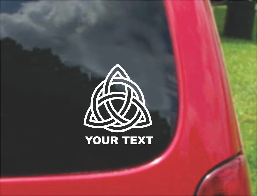 CELTIC KNOT TRIQUETRA Symbol Sticker Decal 20 Colors To Choose From.