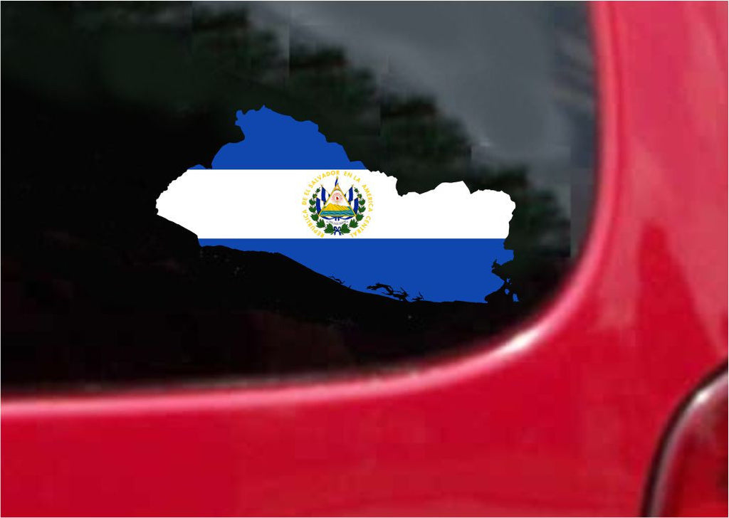 El Salvador  Outline Map Flag Vinyl Decal Sticker Full Color/Weather Proof.