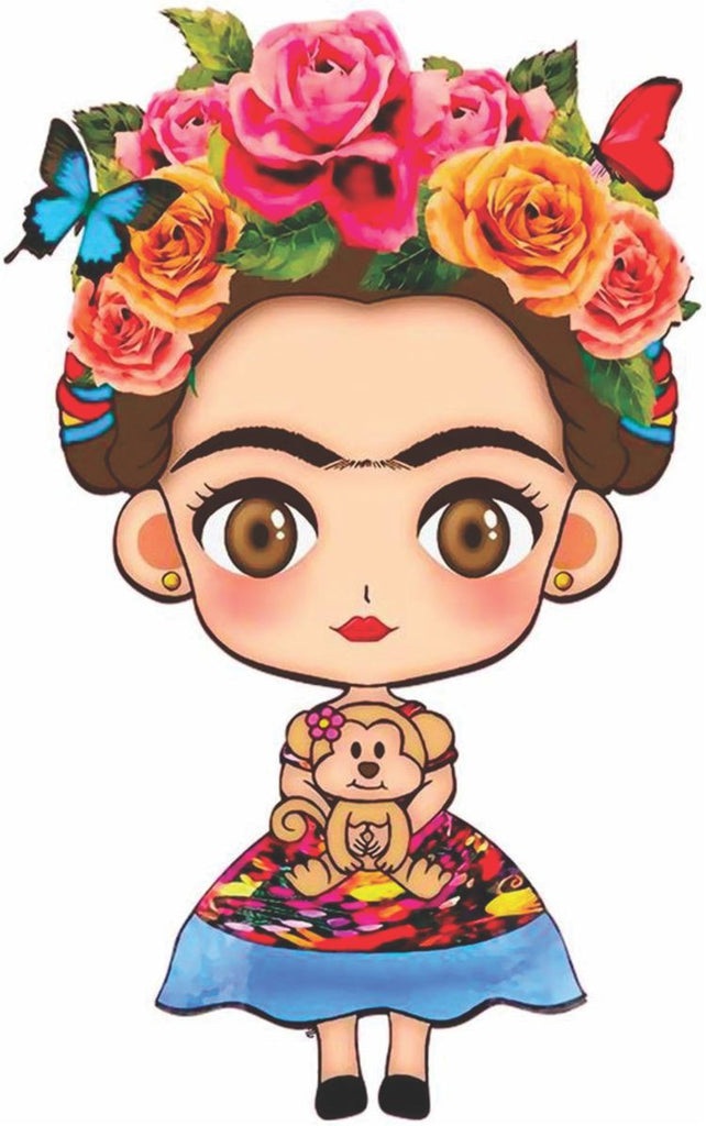 Frida Kahlo Cartoon Sticker Decal Full Color/Weather Proof.