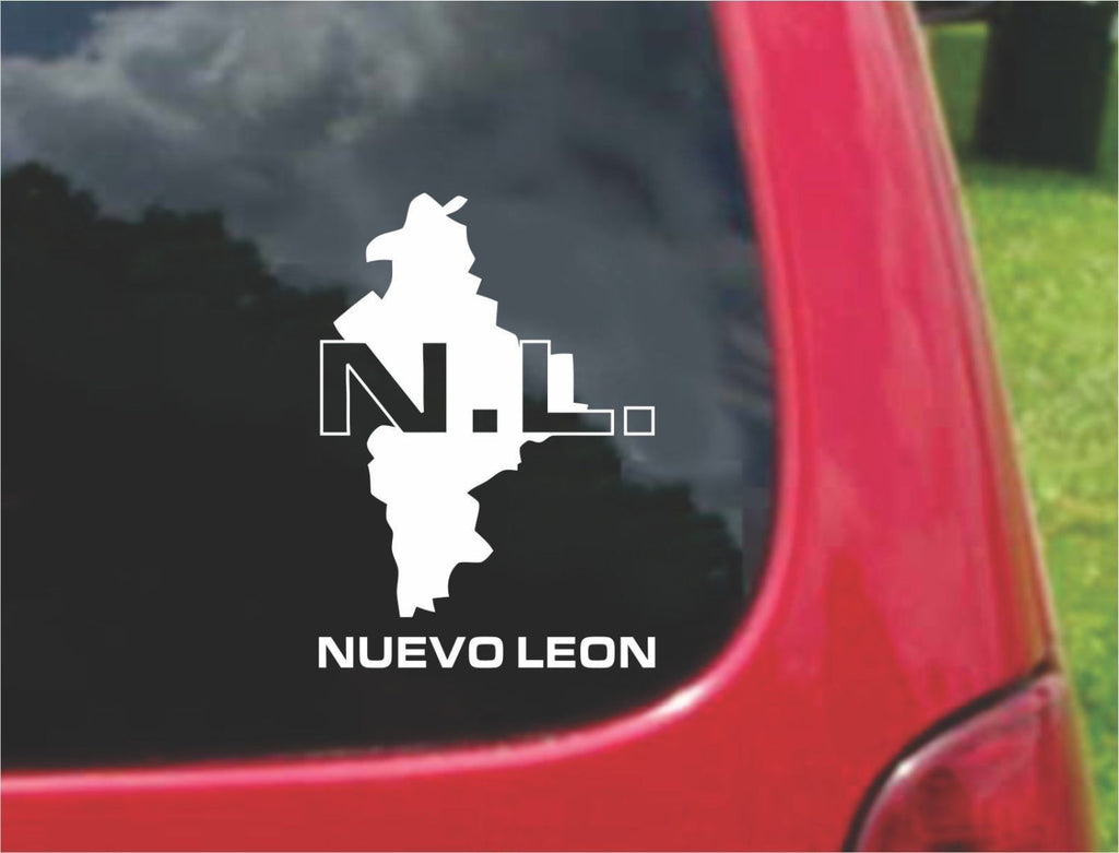 Nuevo Leon Mexico Outline Map Sticker Decal 20 Colors To Choose From.