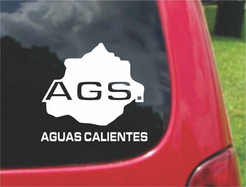 Aguascalientes Mexico Outline Map Sticker Decal