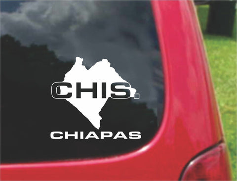 Chiapas Mexico Outline Map Sticker Decal 20 Colors To Choose From.