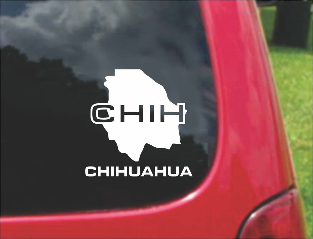 Chihuahua Mexico Outline Map Sticker Decal 20 Colors To Choose From.