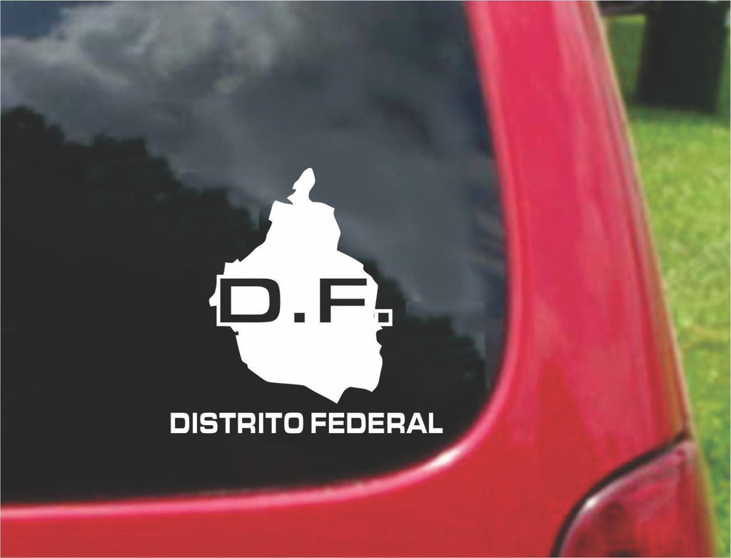 Distrito Federal Mexico Outline Map Sticker Decal 20 Colors To Choose From.