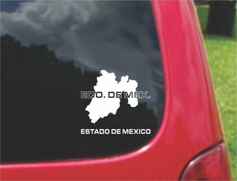 Estado De Mexico Outline Map Sticker Decal 20 Colors To Choose From.