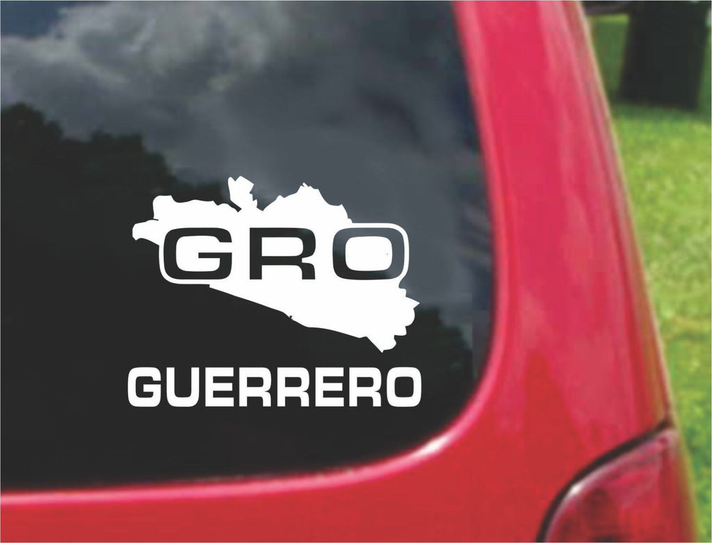 Guerrero Mexico Outline Map Sticker Decal 20 Colors To Choose From.