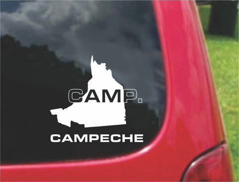 Campeche Mexico Outline Map Sticker Decal 20 Colors To Choose From.