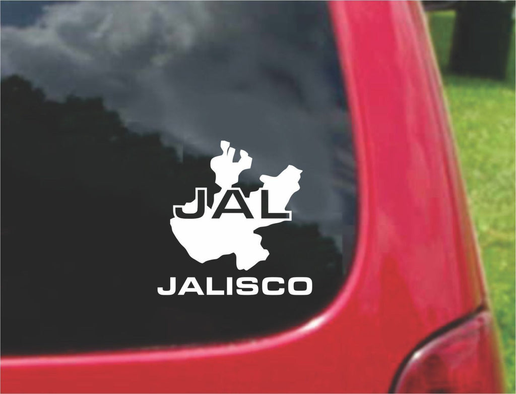 Jalisco Mexico Outline Map Sticker Decal 20 Colors To Choose From.