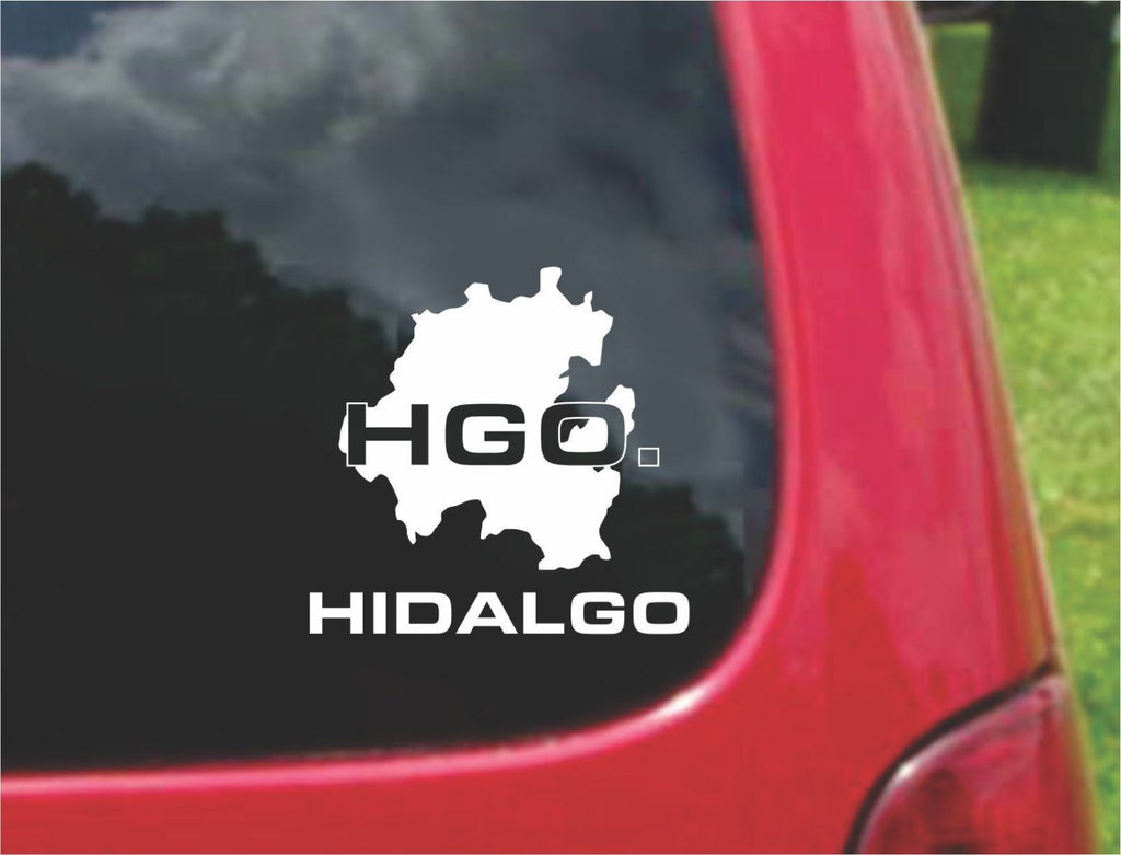 Hidalgo Mexico Outline Map Sticker Decal 20 Colors To Choose From.