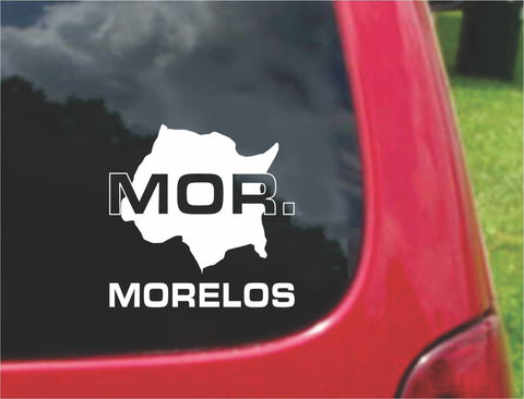 Morelos Mexico Outline Map Sticker Decal 20 Colors To Choose From.