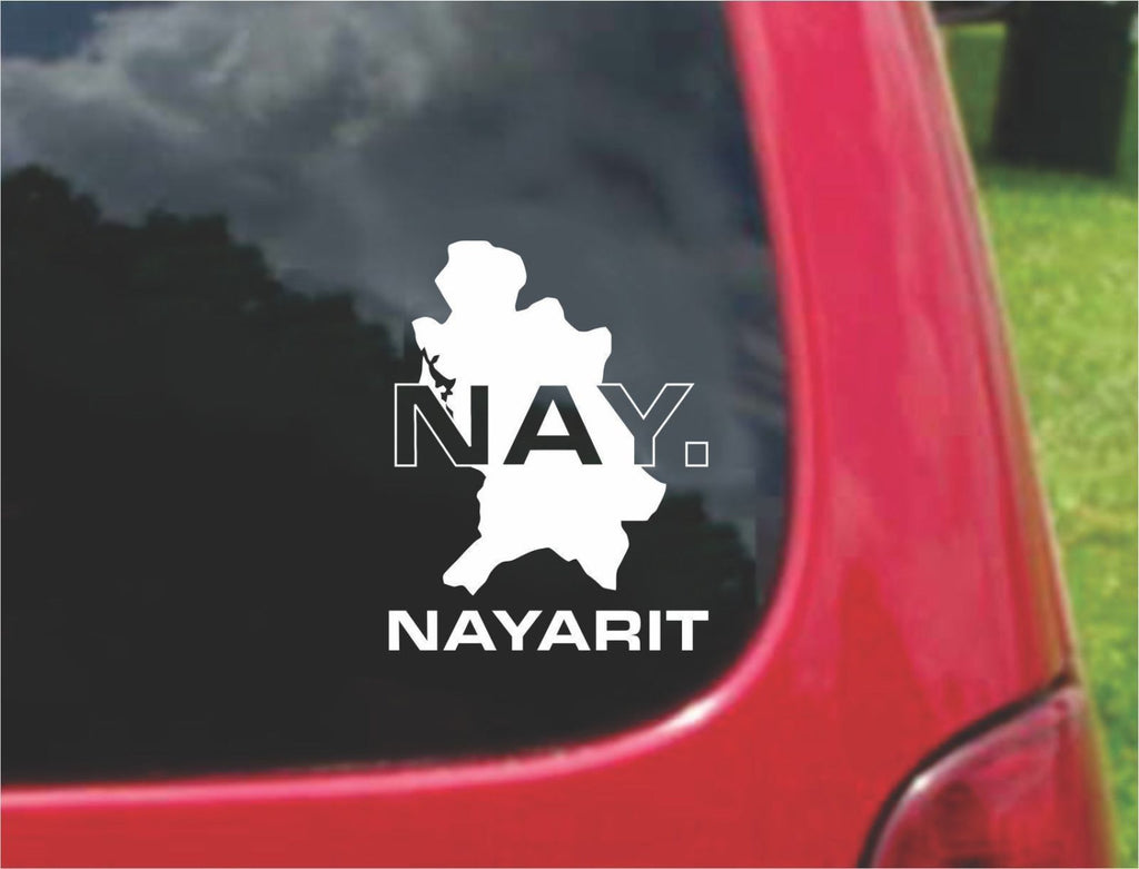 Nayarit Mexico Outline Map Sticker Decal 20 Colors To Choose From.